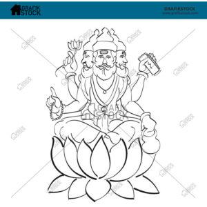 209 God brahma Outline