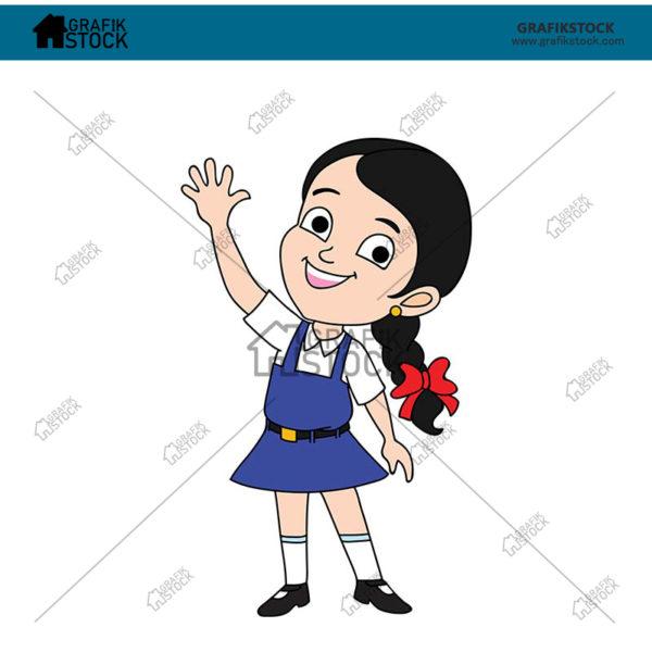 52 Indian small school girl.