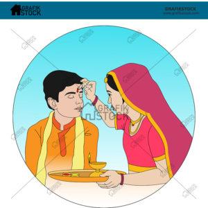 Ethnic Indian Illustrations